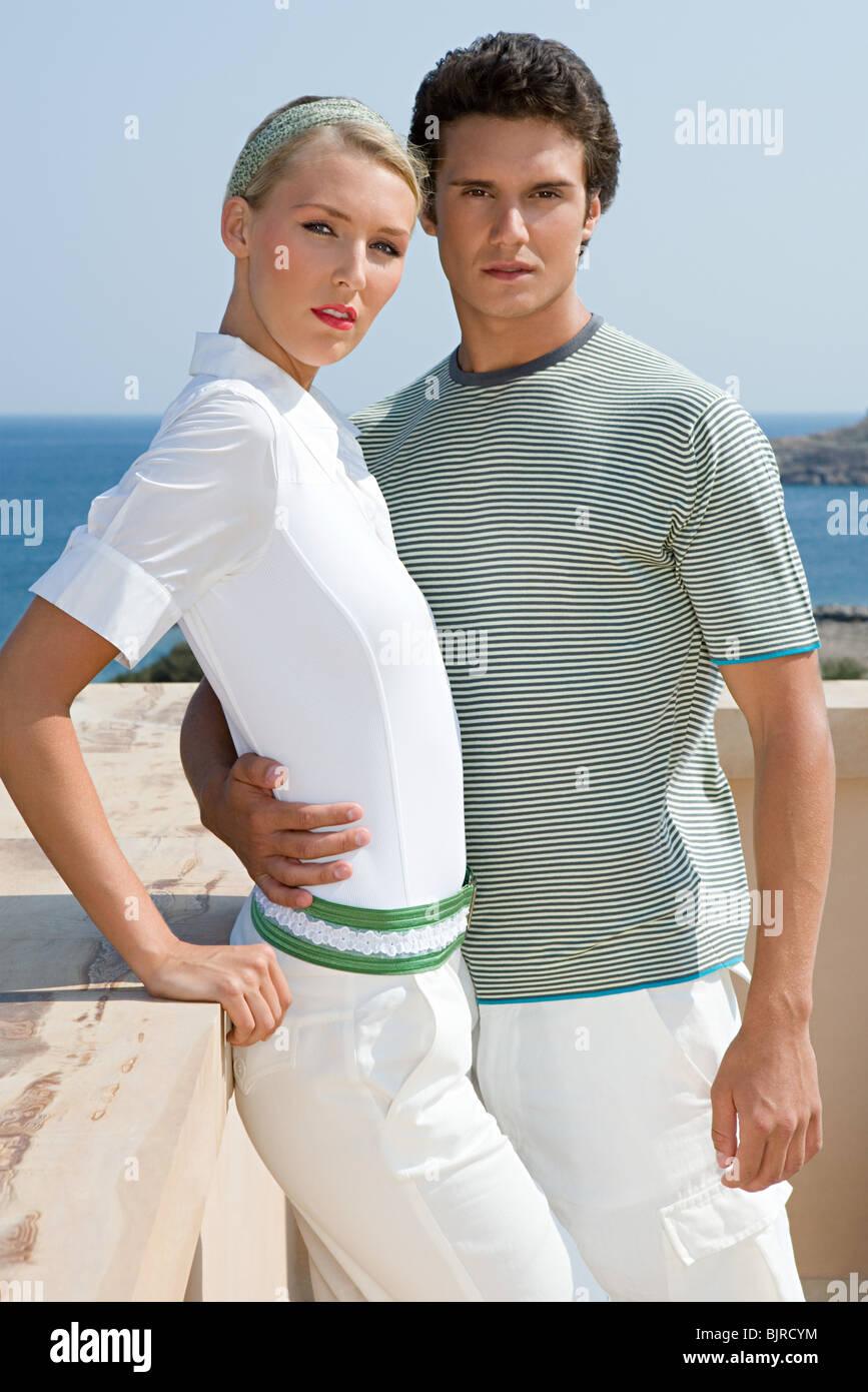 Stylish couple - Stock Image