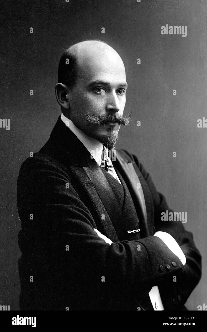 Boris Polonsky, son of Russian poet Yakov Polonsky, late 19th or early 20th century. - Stock Image