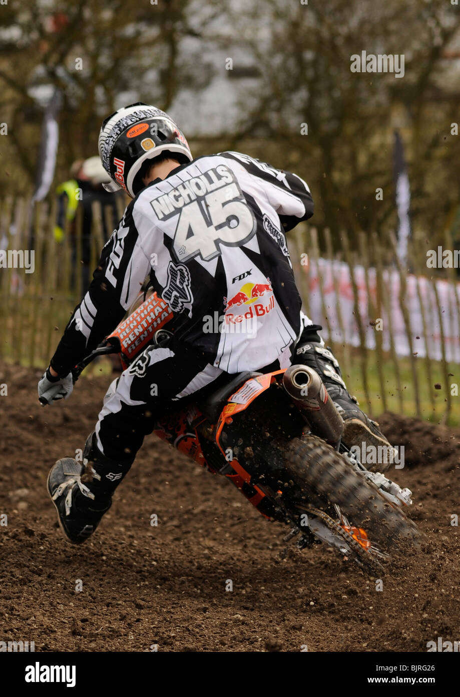 Jake Nicholls in action at Red Bull Pro Nationals at Foxhill, Swindon 14th March 2010. - Stock Image