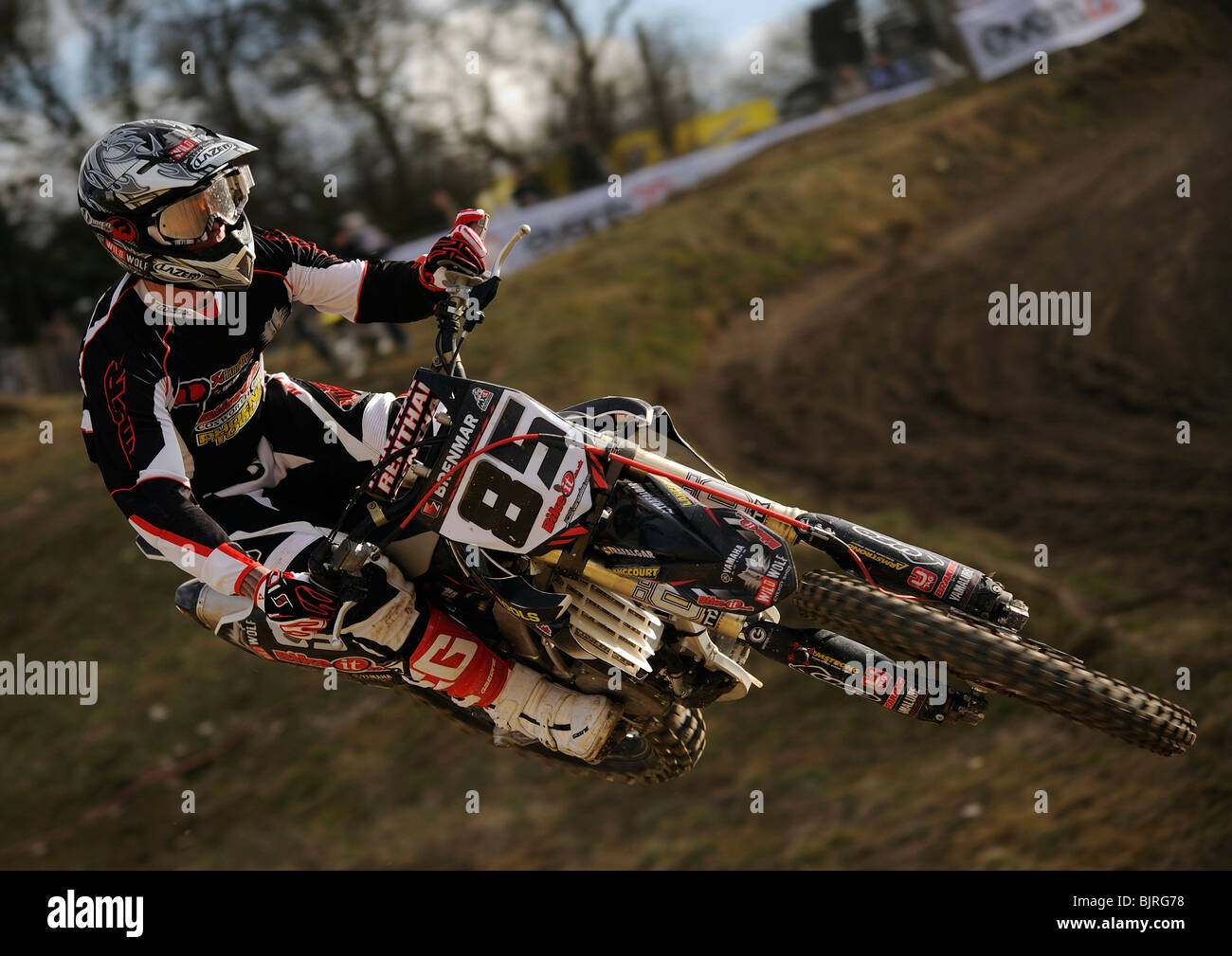 Jason Dougan in action at the 1st round of the 'Red Bull Pro Nationals' event at Foxhill, Swindon on Sunday - Stock Image
