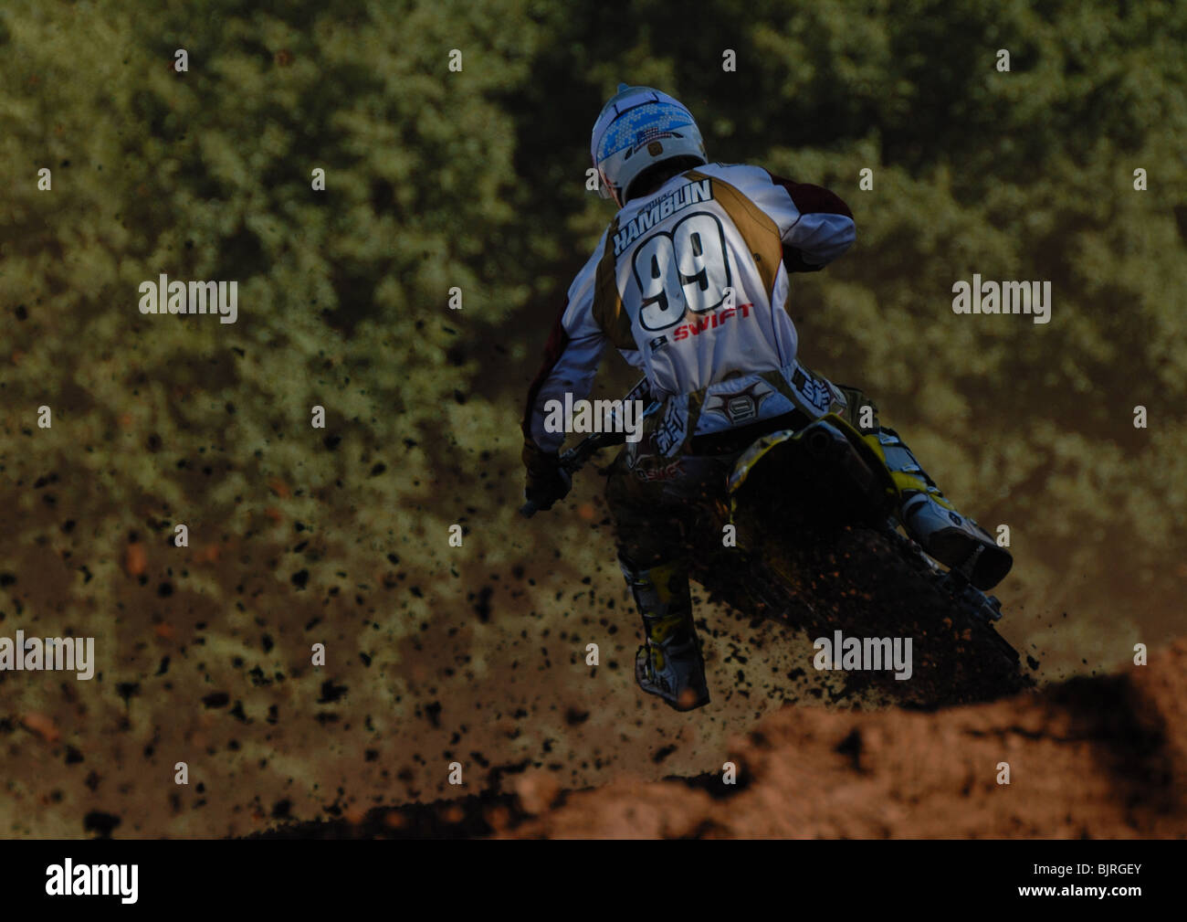 Sean Hamblin in action at the Maxxis British Motocross round at Howton Court, Pontrilas, Herefordshire in September - Stock Image