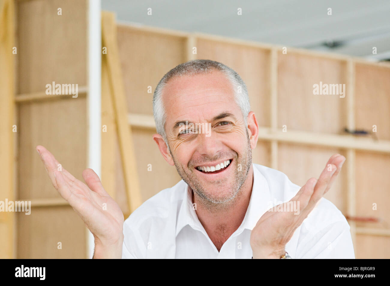Enthusiastic man - Stock Image