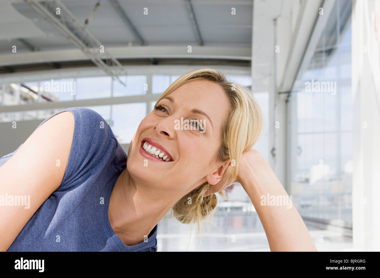 Smiling woman - Stock Image