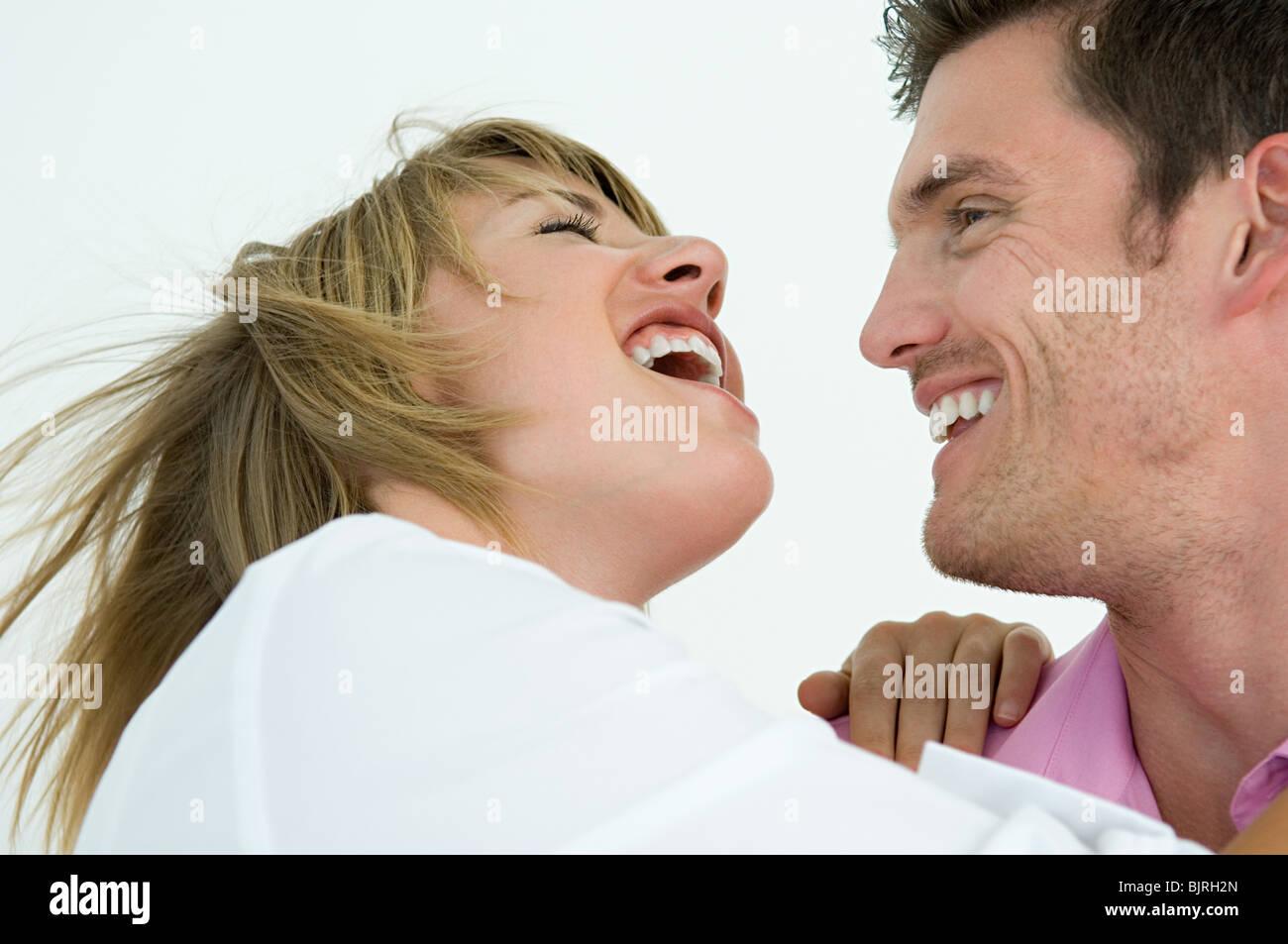 Joyful couple - Stock Image