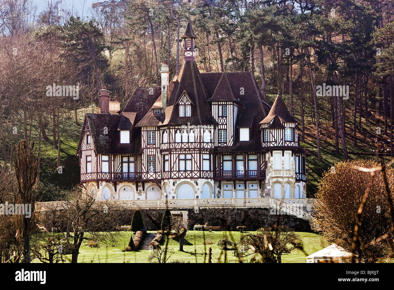 French Chateau Traditional Country Manor House Pays D Auge Stock Photo Alamy