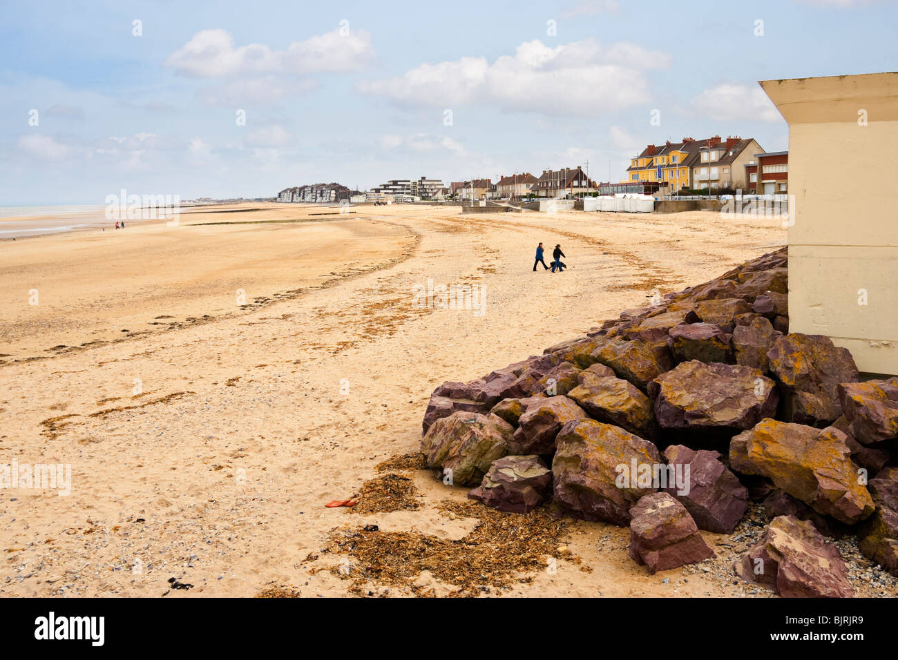 The beach at Courseulles sur mer, Normandy, France known as Juno beach in WW2 - Stock Image