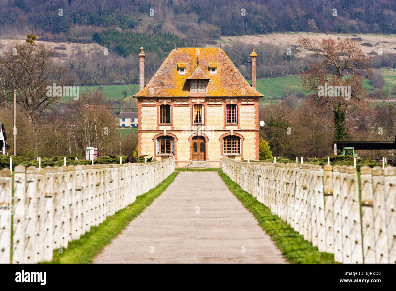 French Country House Calvados Normandy France Stock Photo Alamy