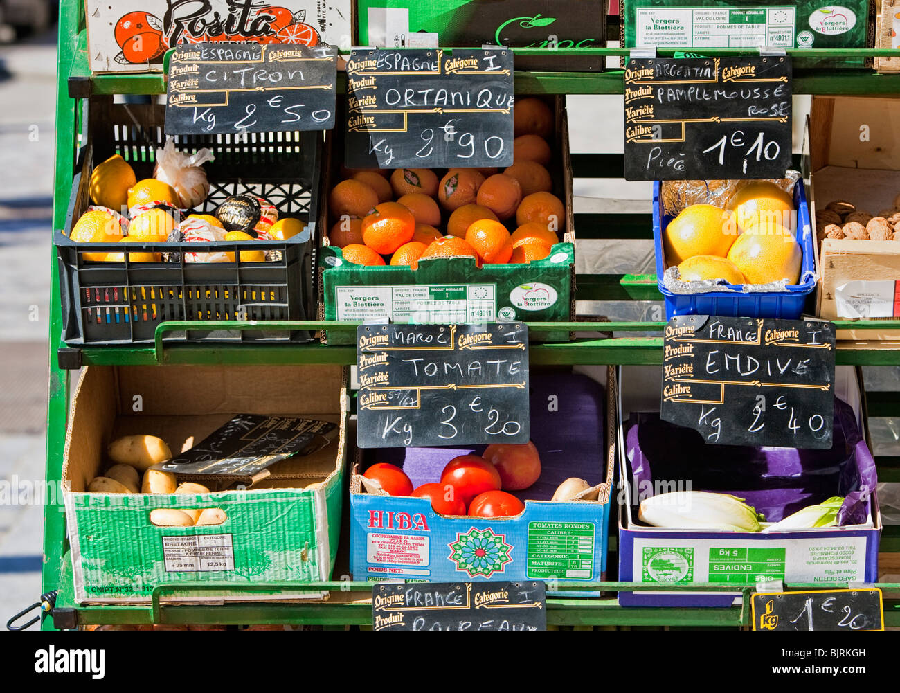 French market stall - Stock Image