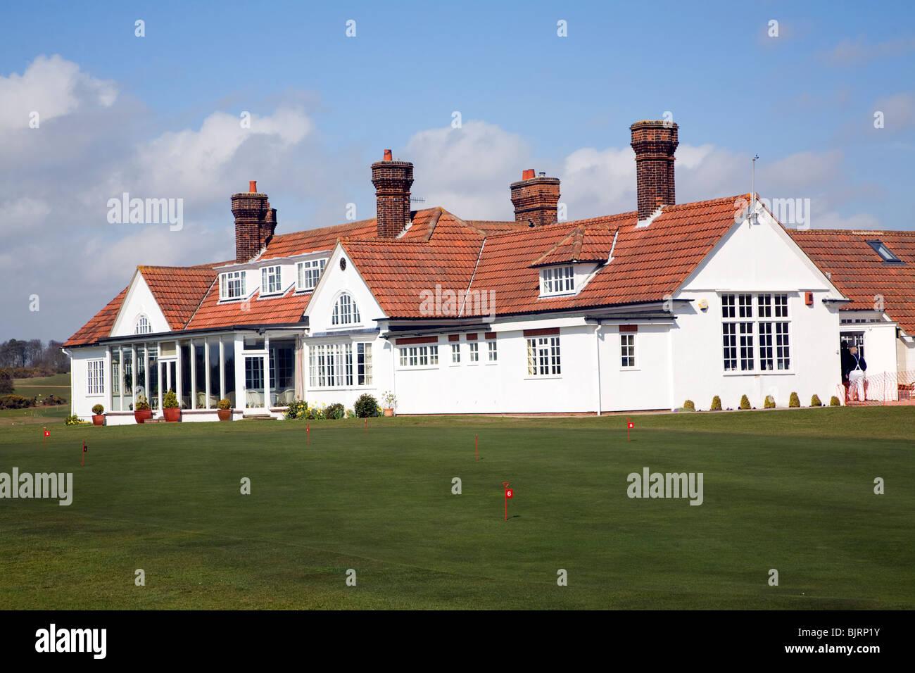 Golf club clubhouse Aldeburgh, Suffolk - Stock Image