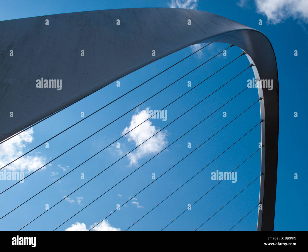 The Gateshead Millenium Bridge, Tyne and Wear, UK - Stock Image