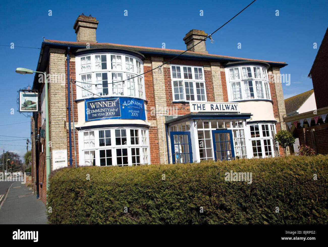 The Railway award winning Adnams pub, Aldeburgh, Suffolk - Stock Image