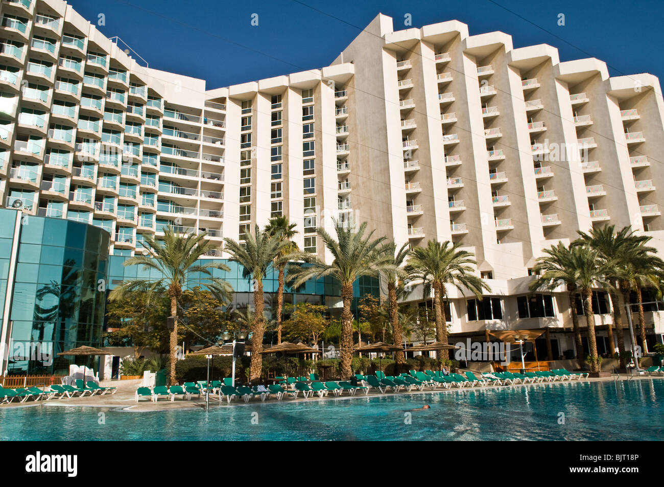 A prime holiday destinations - a 5 star resort in Ein Bokek, Dead sea, Israel. - Stock Image