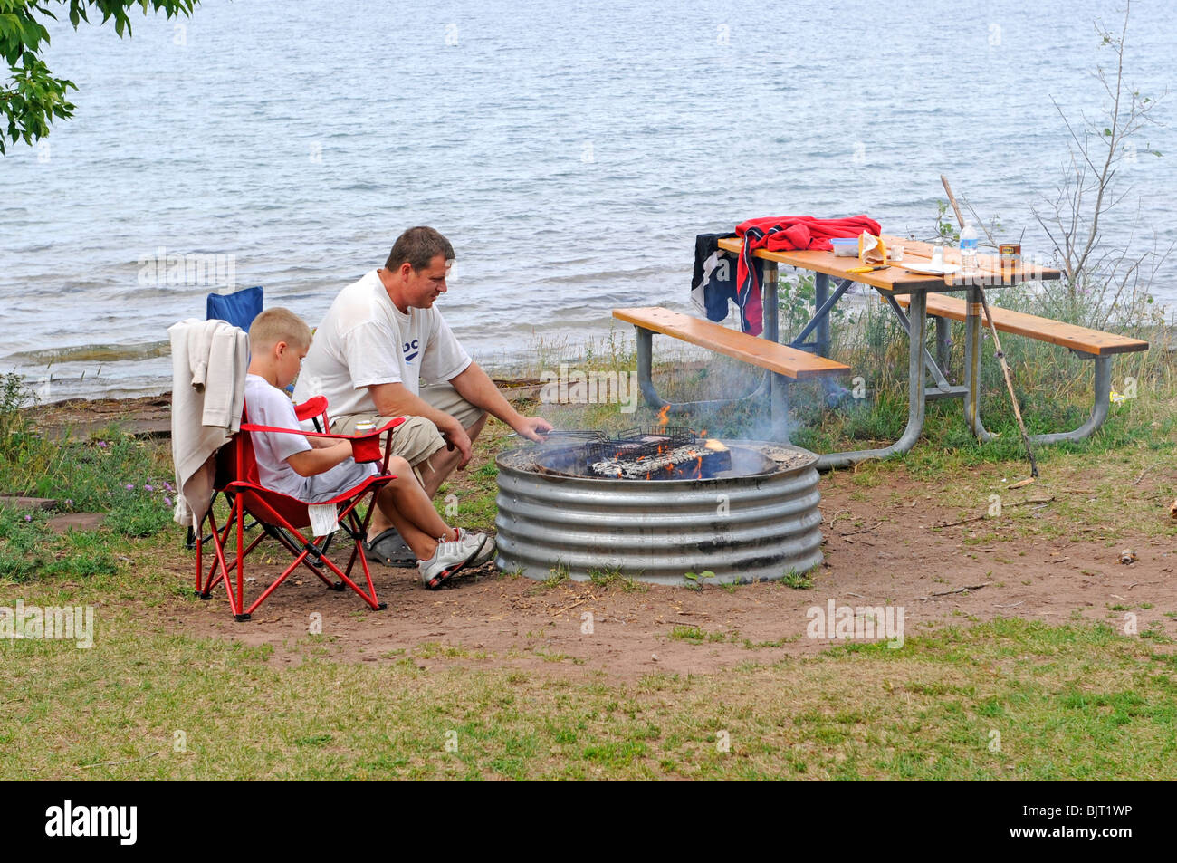 Camping on Lake Superior at Porcupine Mountains Wilderness
