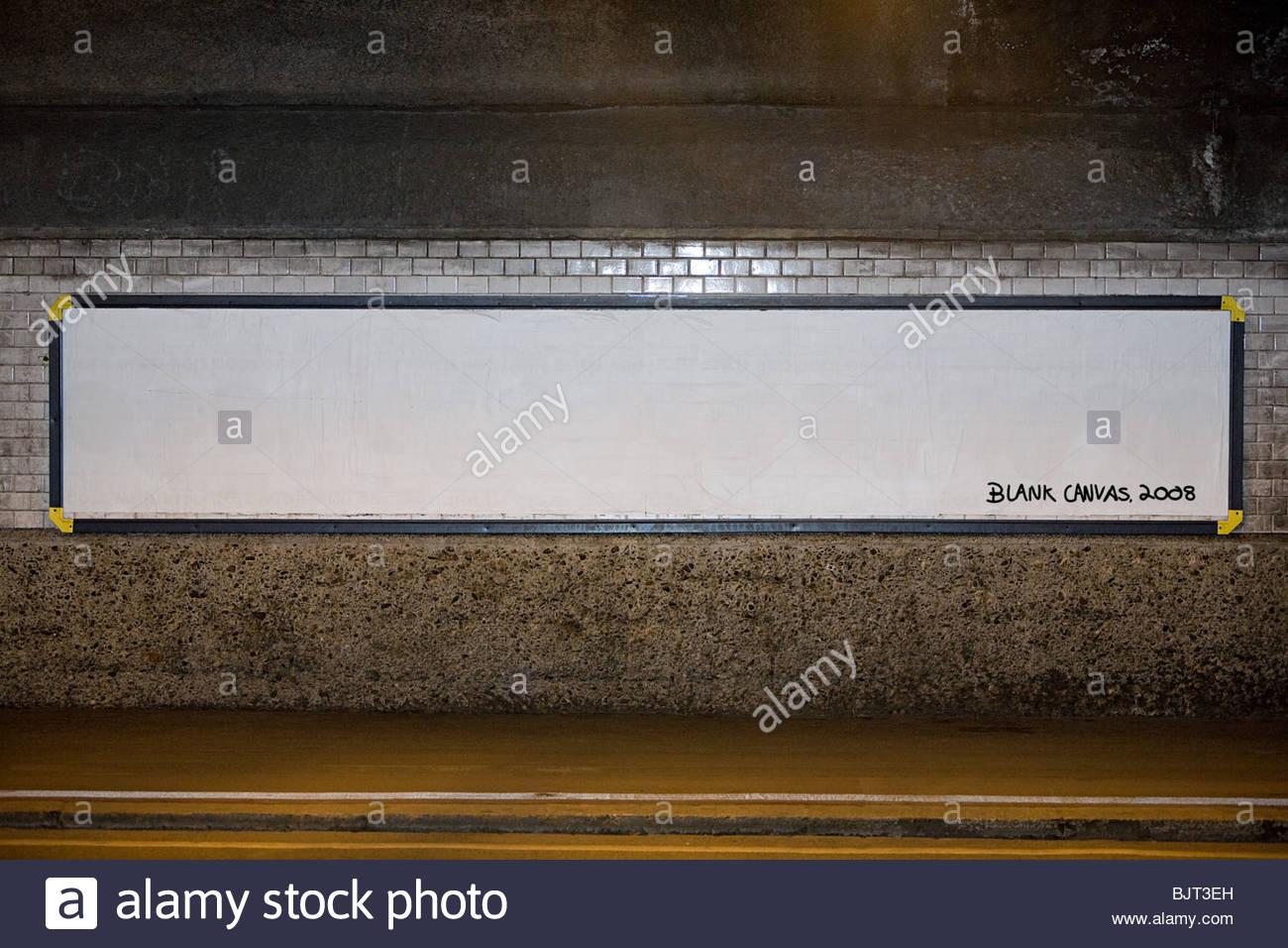 Blank billboard poster - Stock Image