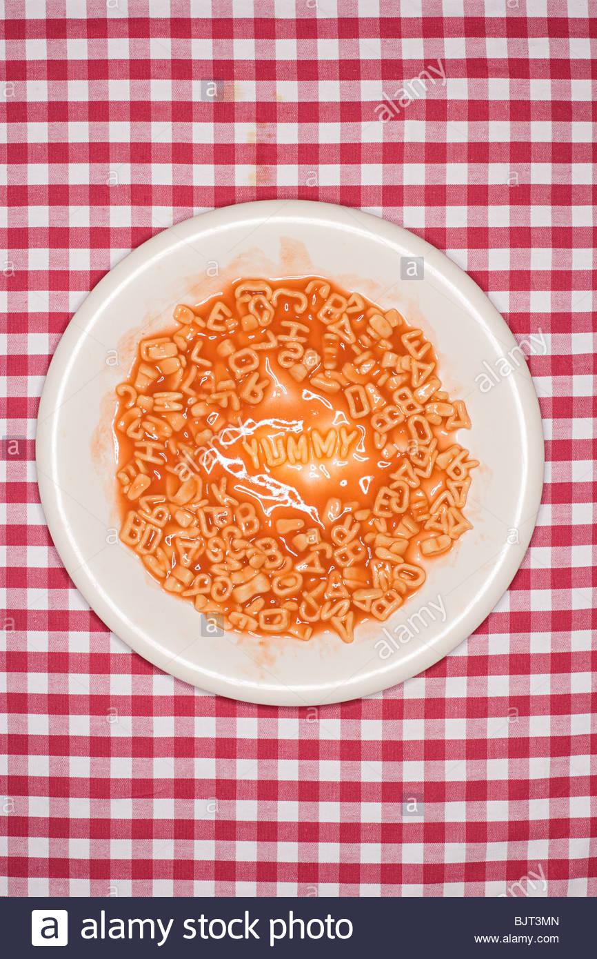 Word written in spaghetti - Stock Image