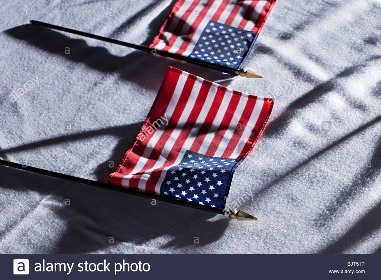 American flags - Stock Image