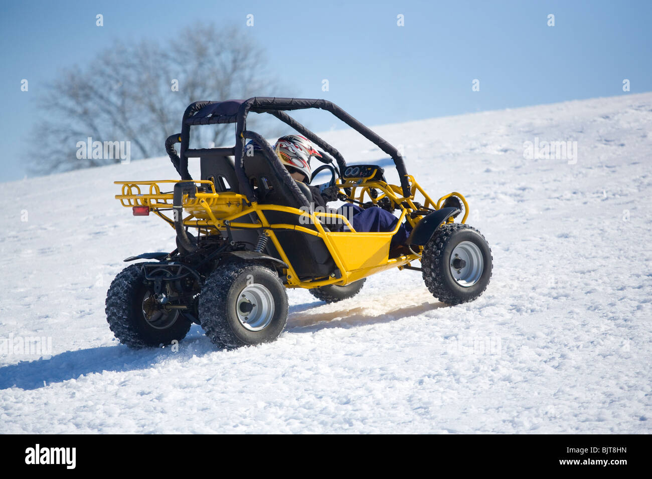 Recreational vehicle on snow, Franklin, Tennessee - Stock Image