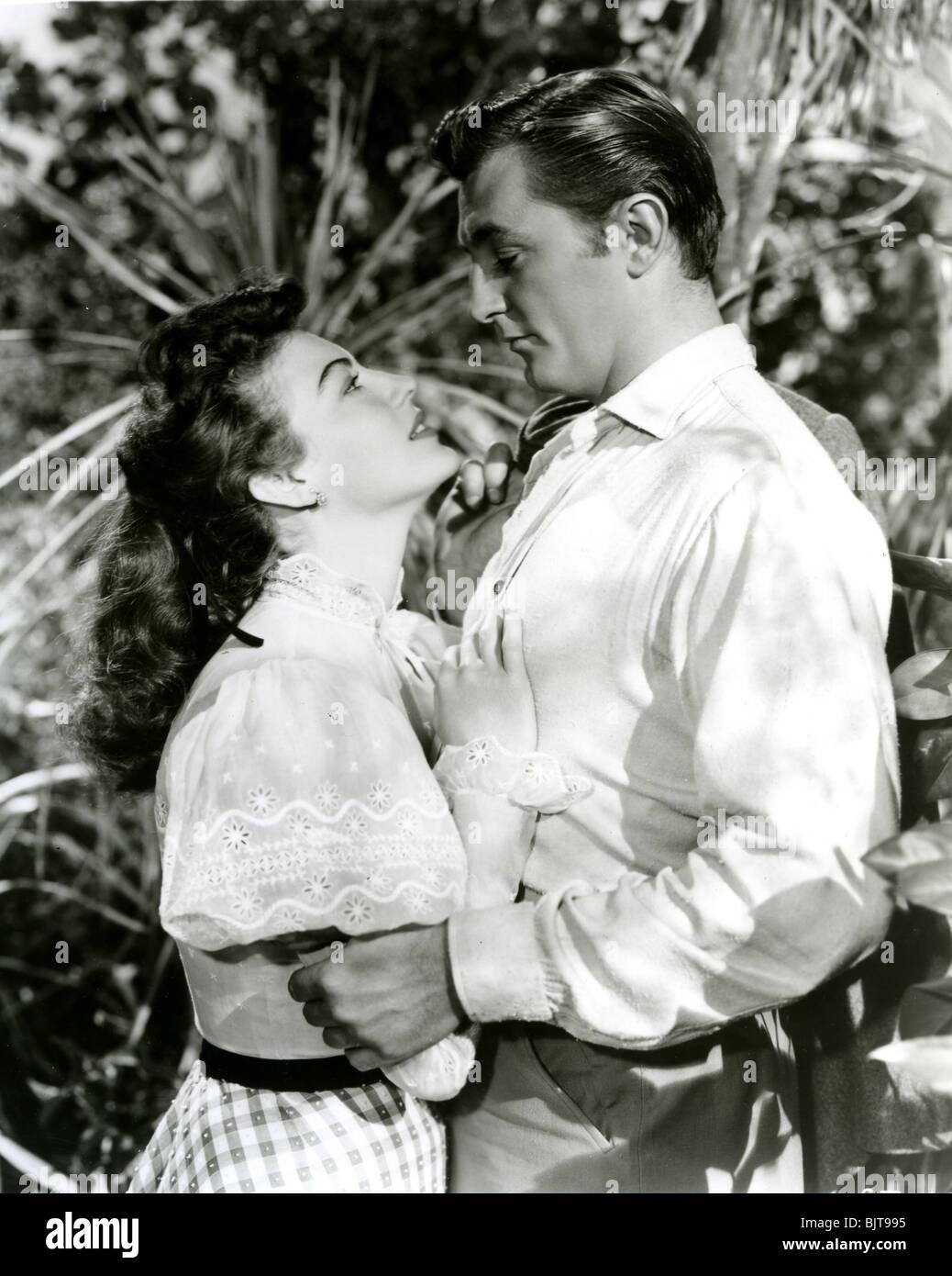 MY FORBIDDEN PAST - 1951 RKO film with Robert Mitchum and Ava Gardner - Stock Image