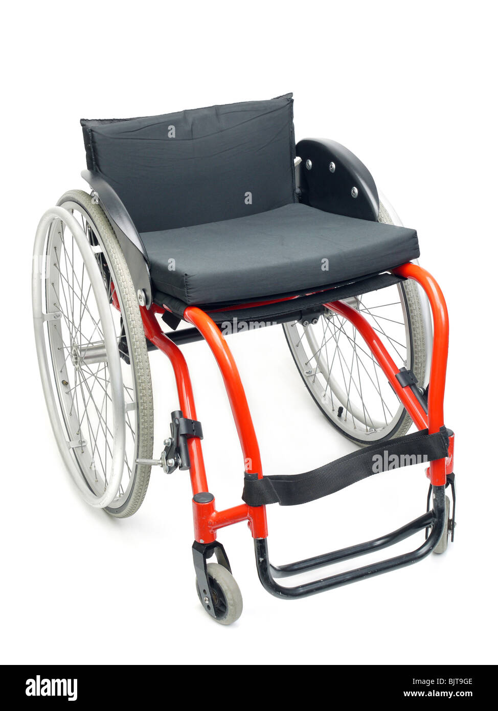 Active wheelchair isolated on white background - Stock Image