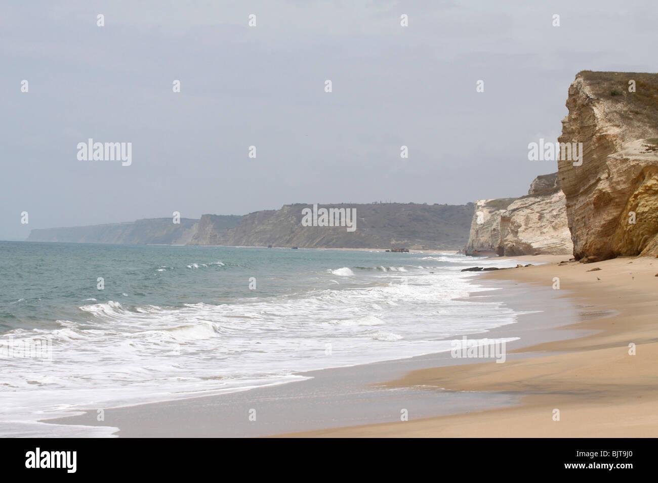The Atlantic coast near to Port Amboim. Kwanza Sul Province, Angola. Africa. - Stock Image