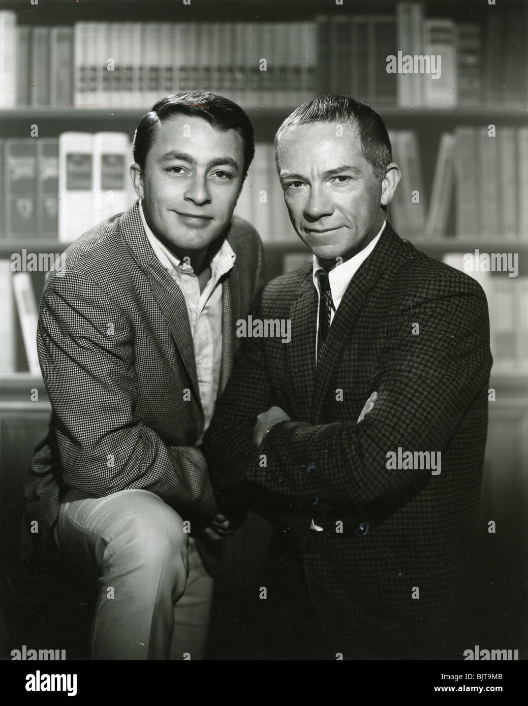 MY FAVOURITE MARTIAN -  CBS tv  series (1963-66)  with Ray Walston (right) as the Martian  and Bill Bixby as reporter - Stock Image