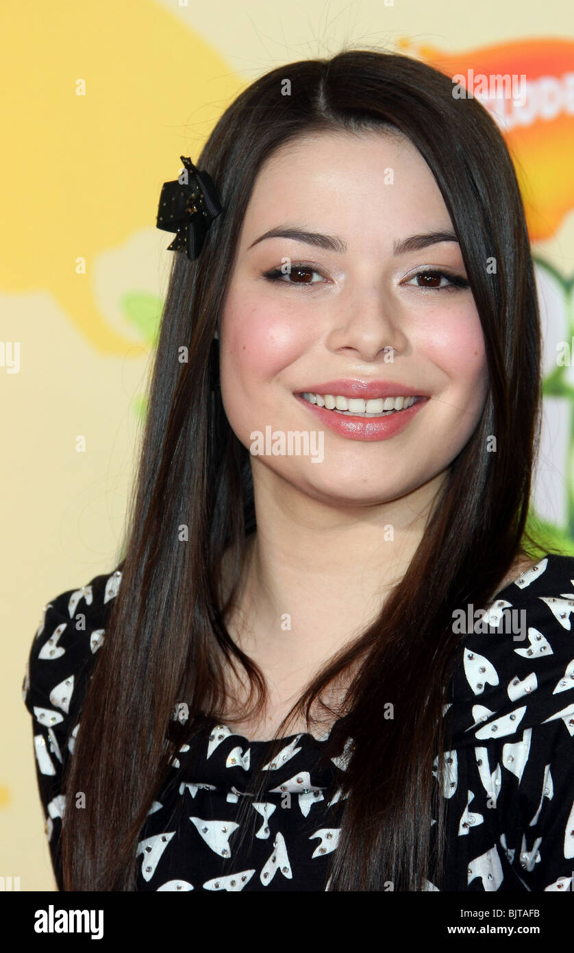 MIRANDA COSGROVE NICKELODEON KIDS CHOICE AWARDS 2009 WESTWOOD LOS ANGELES CA USA 28 March 2009 - Stock Image