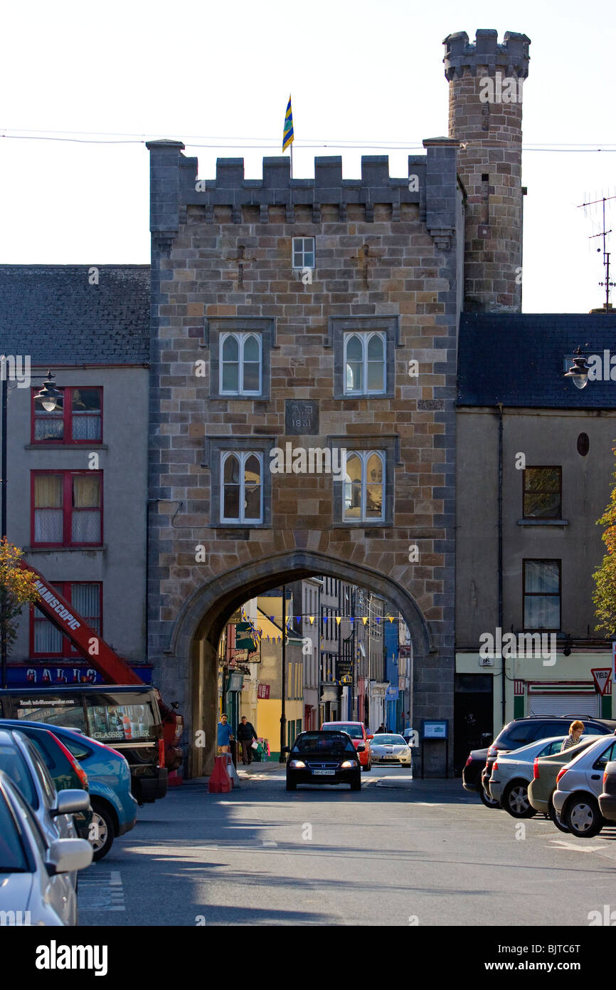 Irishtown through West Gate Clonmel Ireland - Stock Image