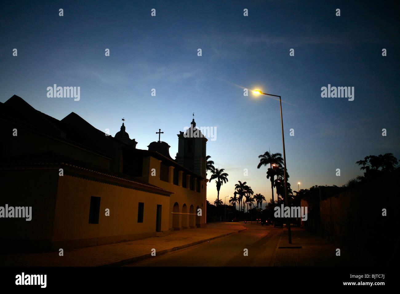 The church of our lady of Populo. Ingreja Da Nossa Senhora Do Populo. Benguela, Angola. Africa. - Stock Image