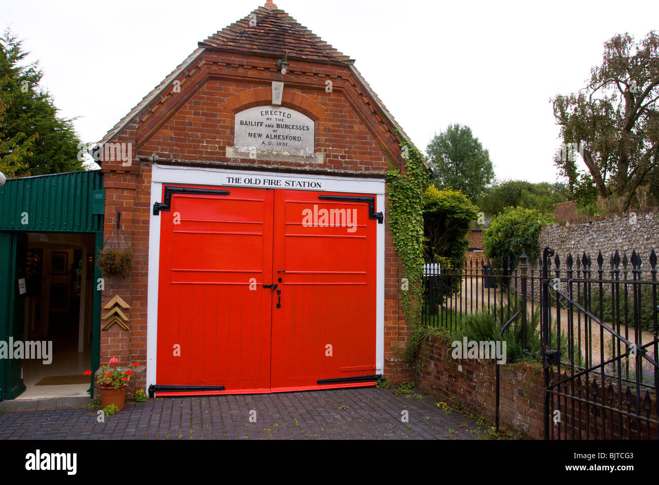 Old Fire Station New Alresford Hampshire - Stock Image
