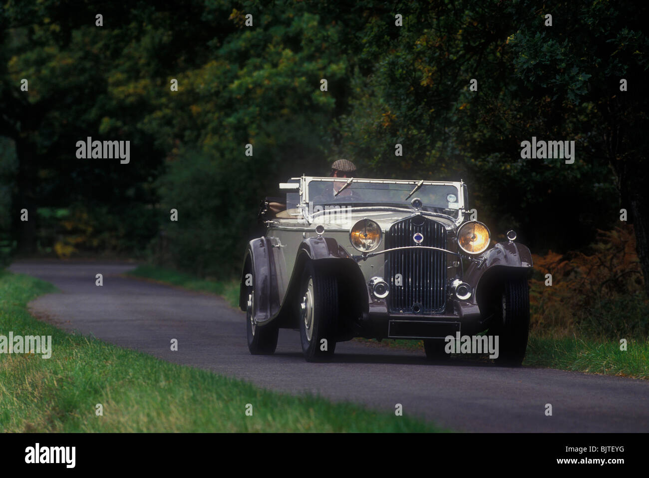 Delage D8 SS French luxury car of the early 1930's - Stock Image