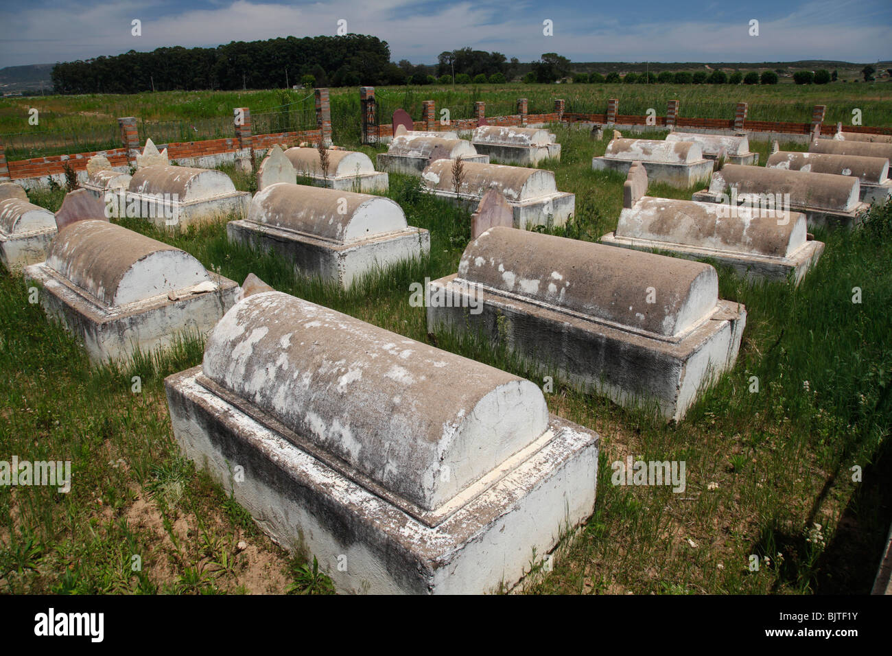 Boer cemetery of early Boer settlers from the 1800's, Nr Lubango, Huila Province, Angola. Africa. - Stock Image