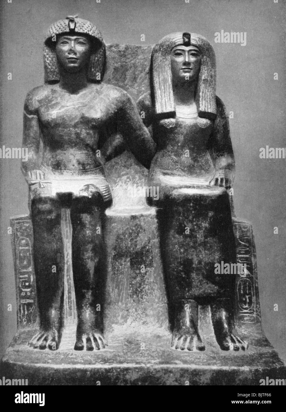 Pharaoh Thutmose IV and his queen, 1933-1934. - Stock Image