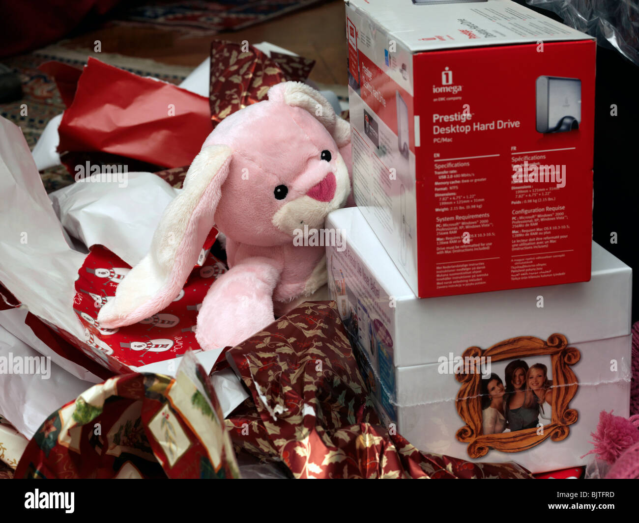 Unwrapped Christmas Presents Cuddly Toy Desktop Hardrive And