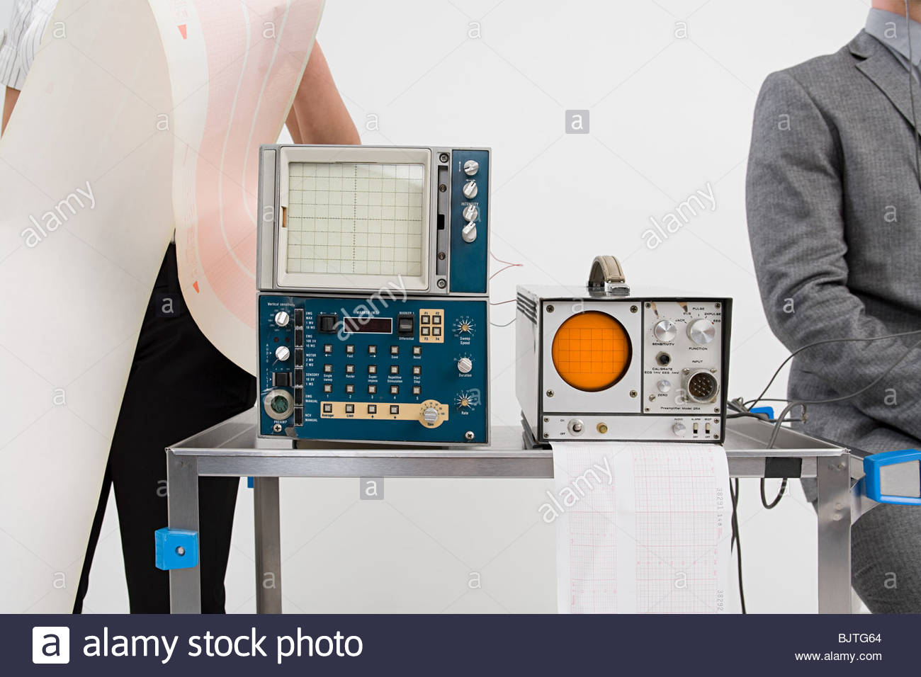 People and scientific equipment - Stock Image