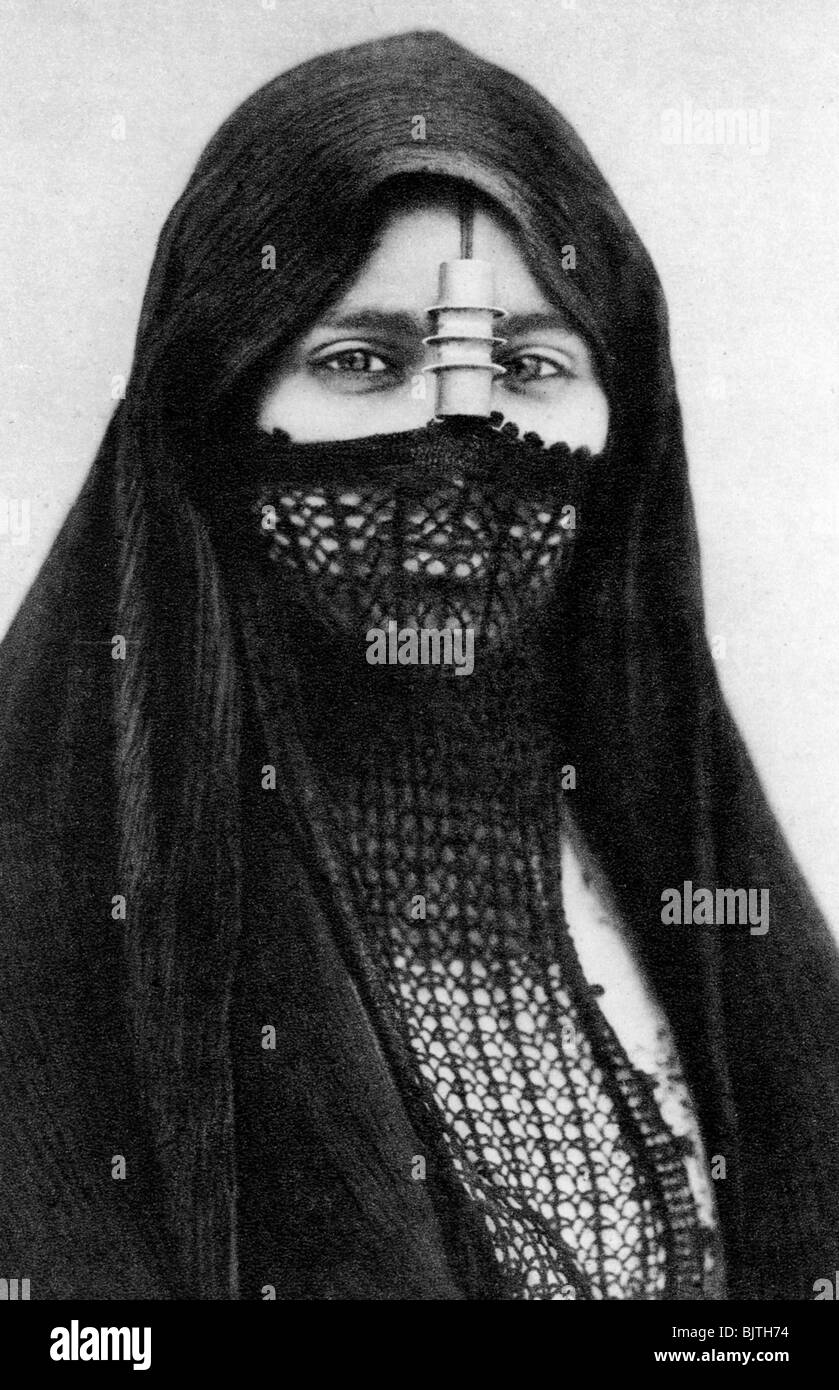 A portrait of an Egyptian woman, c1920s. - Stock Image