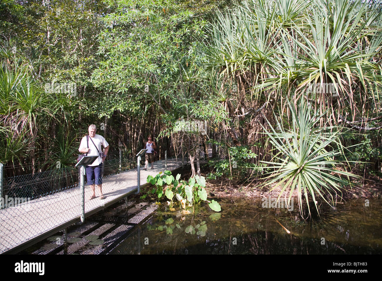 Territory Wildlife Park just south of Darwin, is a sprawling open air nature park set in natural bushland - Stock Image