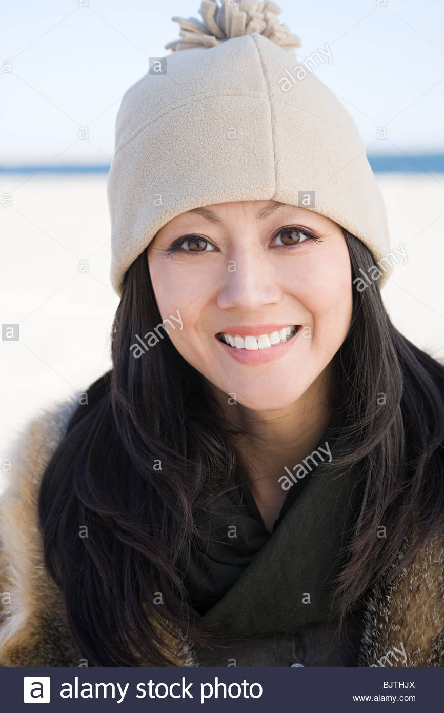 Woman wearing a hat - Stock Image
