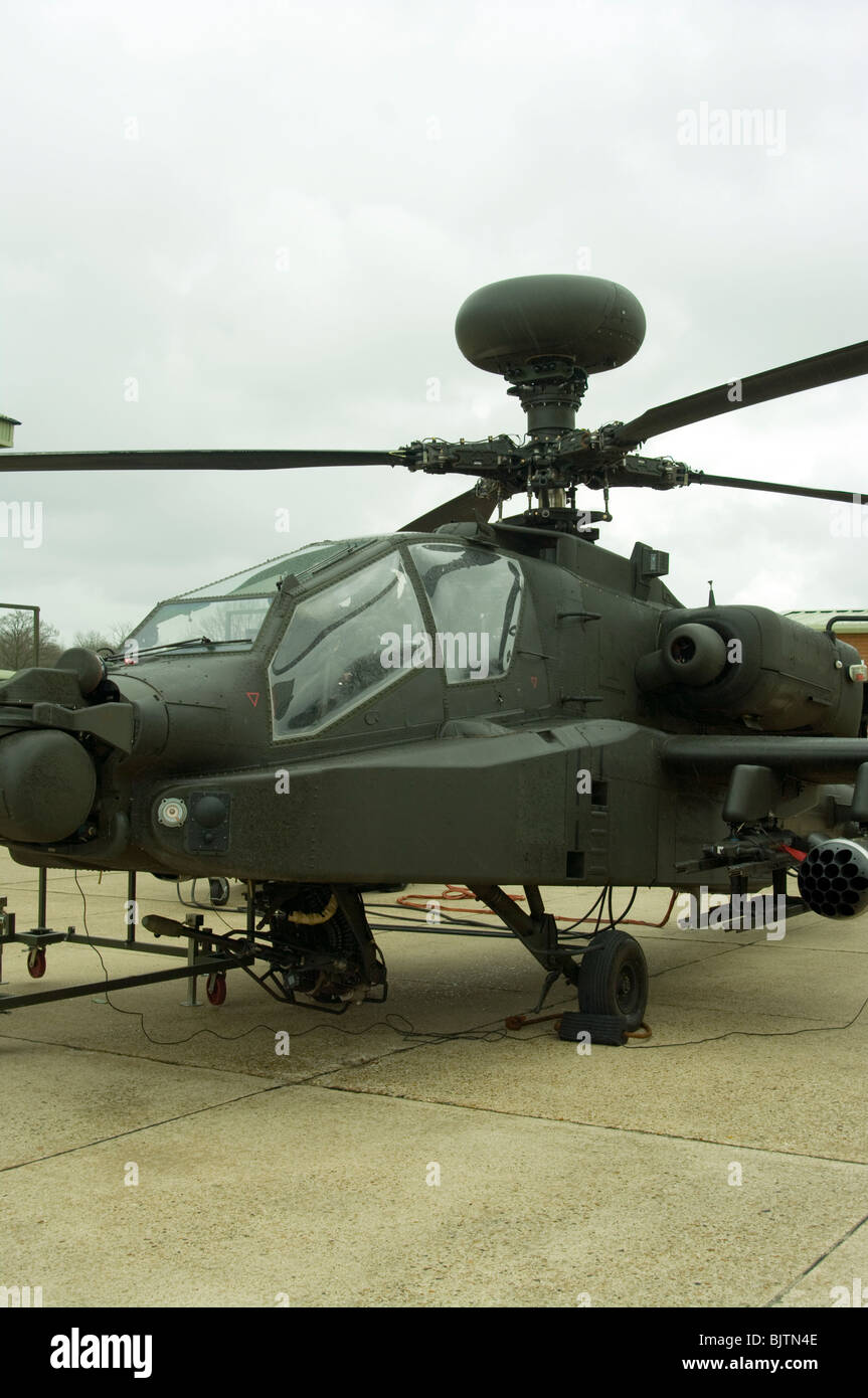 British Army Westland Attack Helicopter WAH-64 MK1 Apache Longbow - Stock Image
