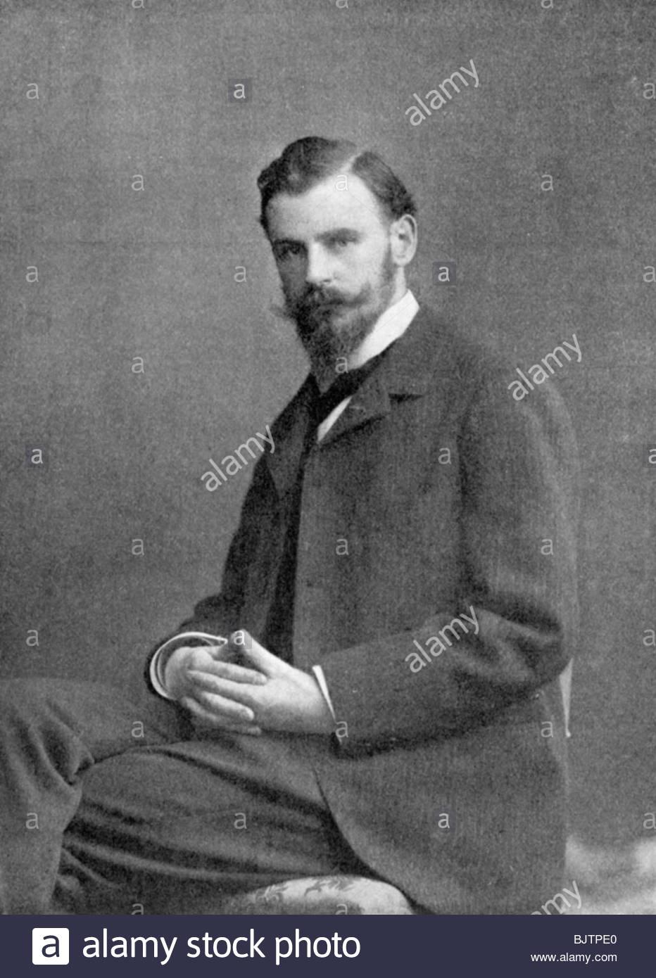 Albert Baertsoen (1866-1922), Belgian printmaker, 1898. - Stock Image