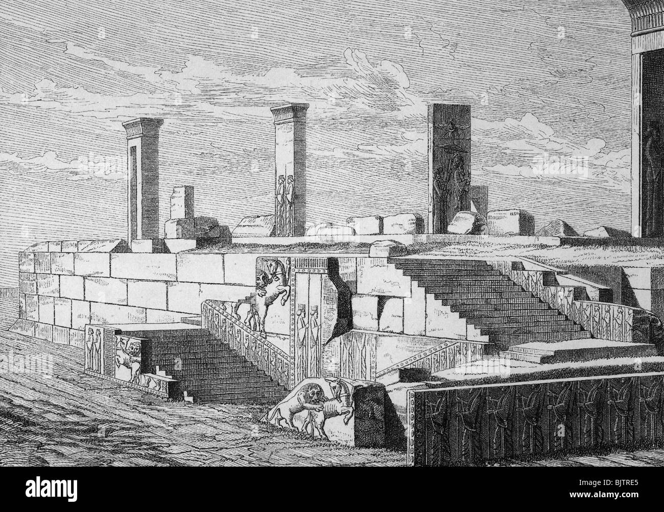 Geography Travel Iran Persepolis Parsa Built 518 Bc Stock Photo Alamy