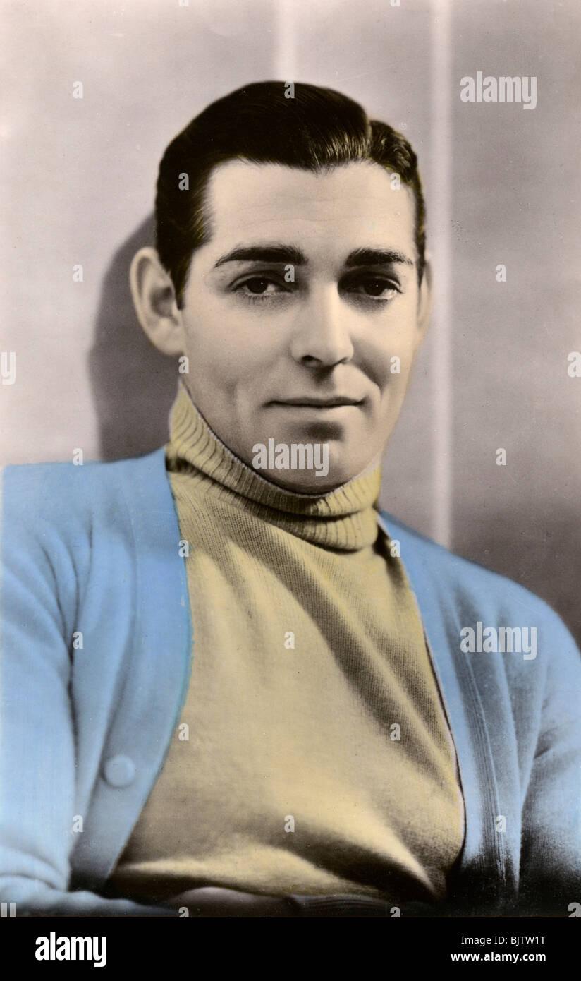 Clark Gable (1901-1960), American actor, 20th century. - Stock Image