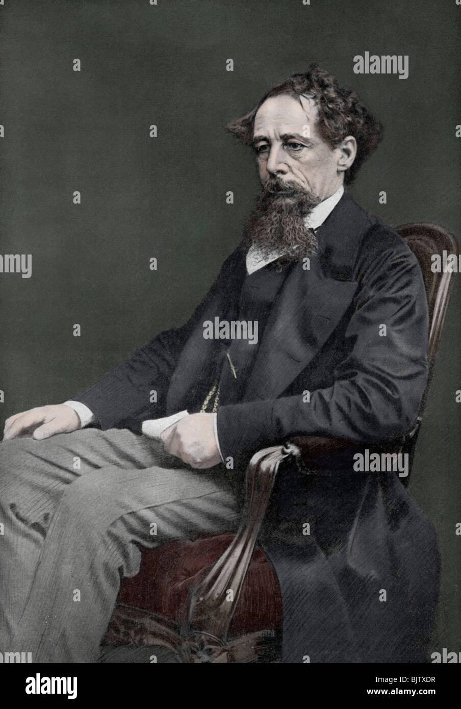 Charles Dickens, 19th century English author, (1910). - Stock Image