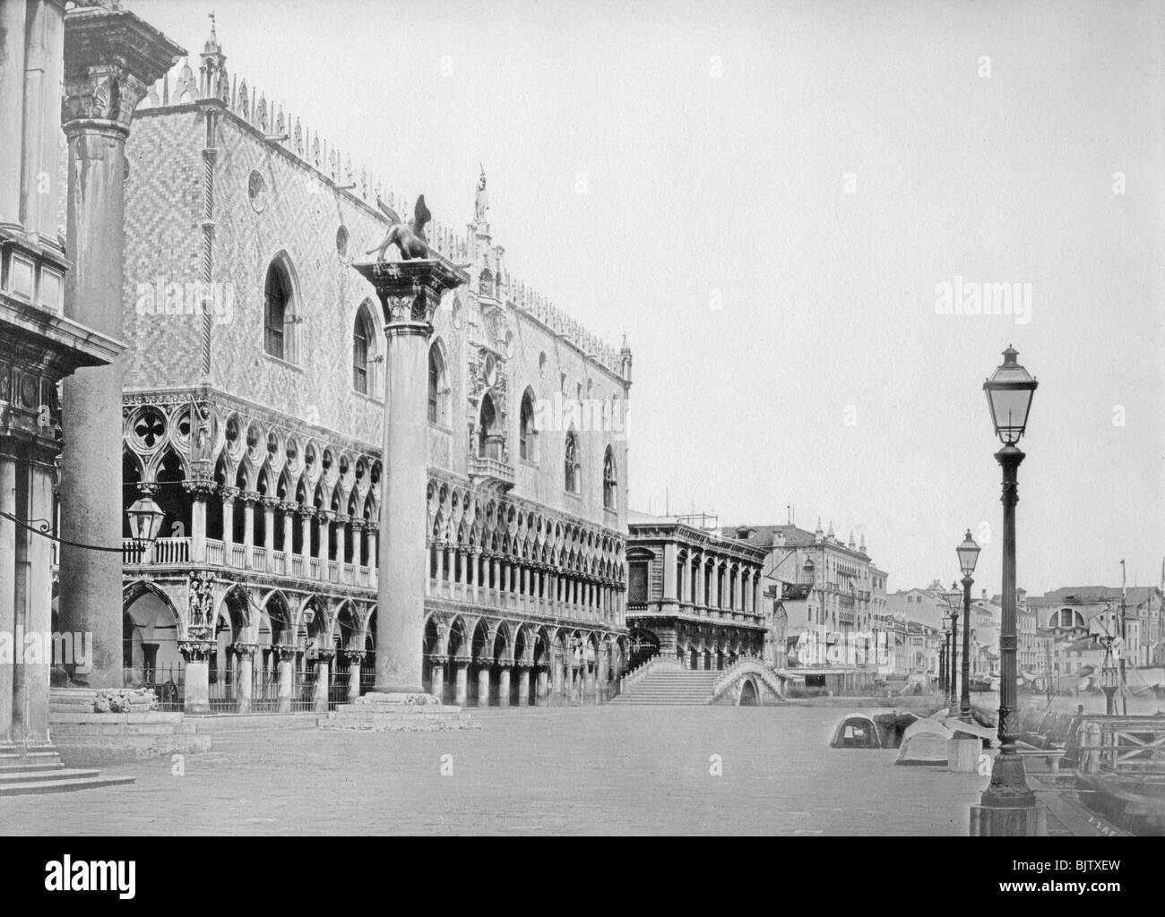 Venice, Italy, late 19th or early 20th century(?). - Stock Image