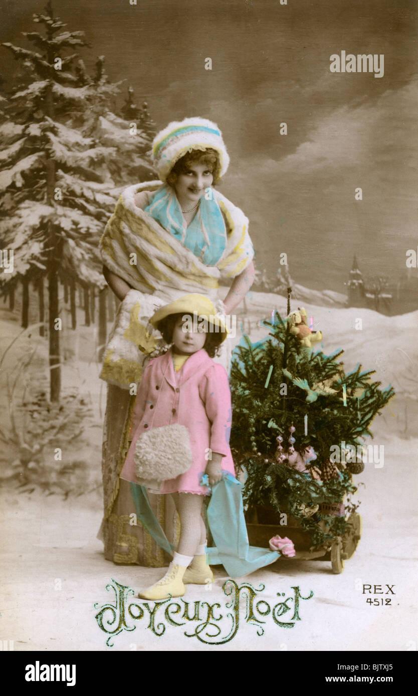 French Postcard Christmas Stock Photos French Postcard Christmas