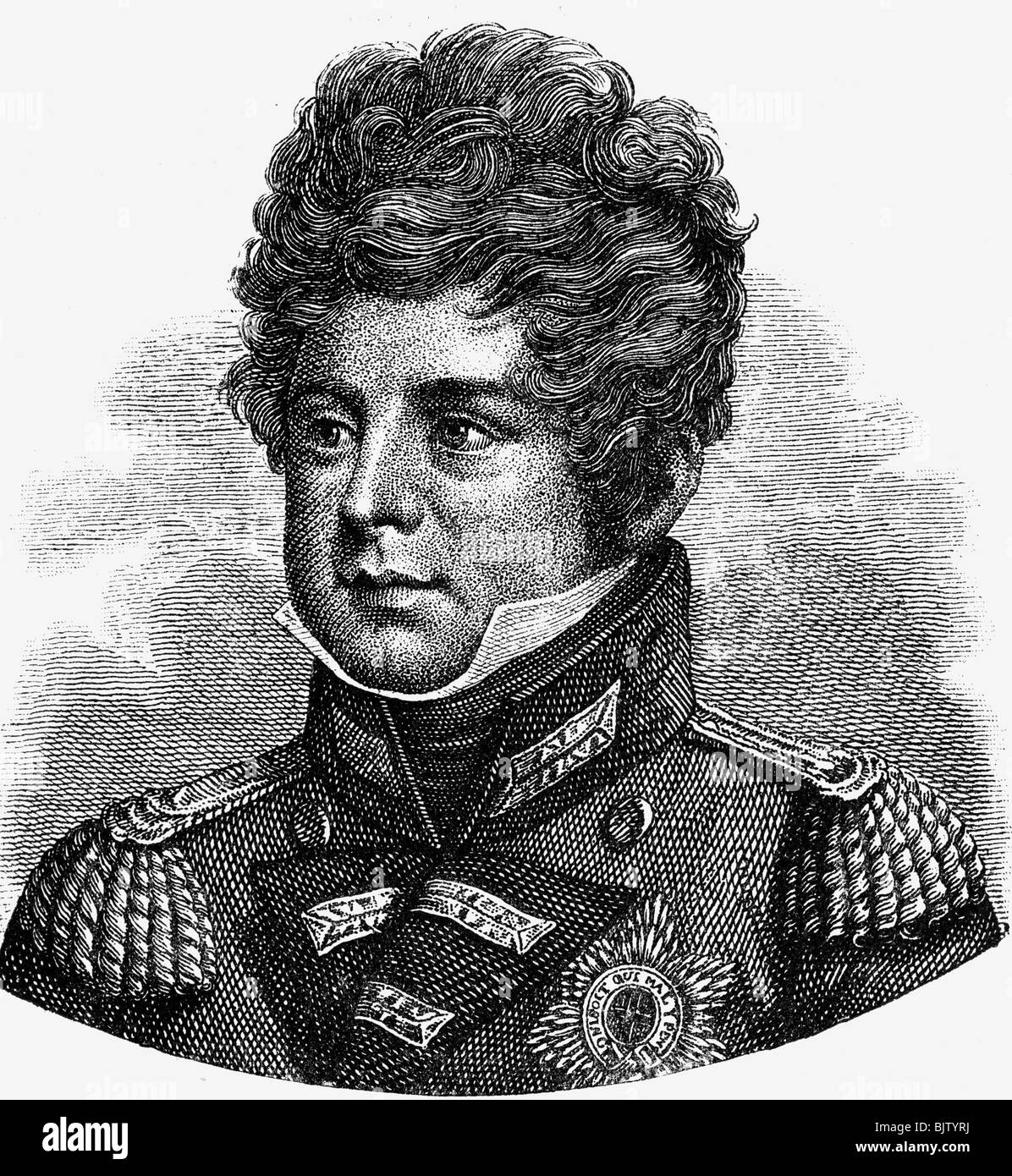 George IV, 12.8.1762 - 26.6.1830, King of Great Britain 29.1.1820 - 26.6.1830, portrait, wood engraving, 19th century, - Stock Image