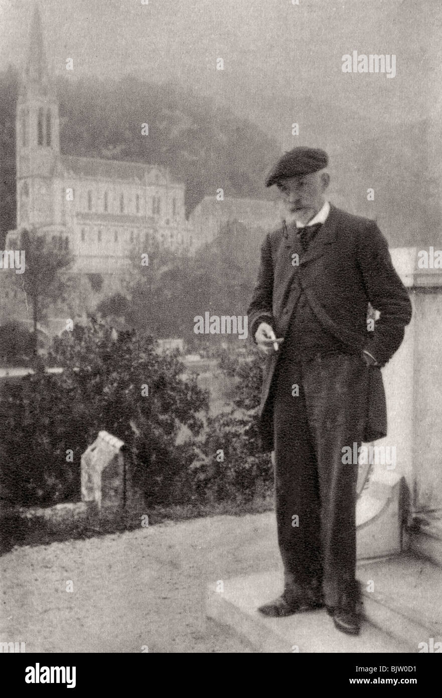 Joris-Karl Huysmans, French novelist, 1900. Artist: Unknown Stock Photo