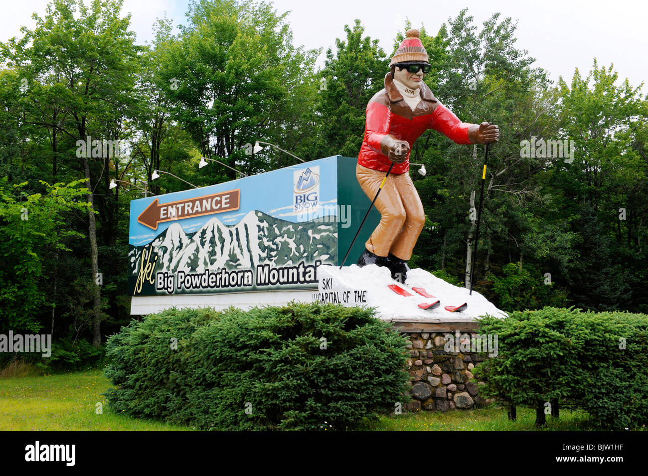 big powderhorn mountain ski resort area upper peninsula michigan