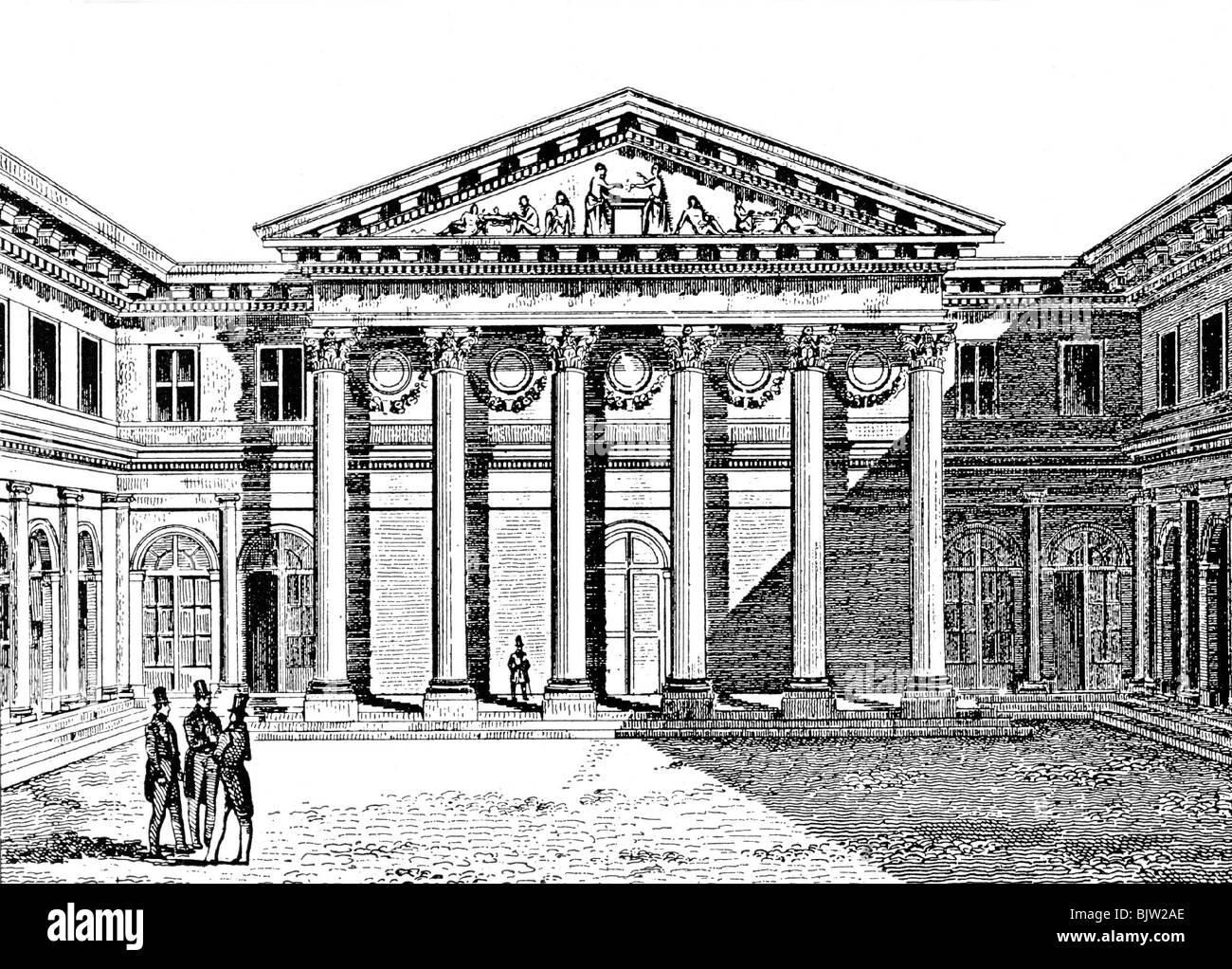 geography / travel, France, Paris, education, University of Sorbonne, Ecole de Medicine, engraving, 19th century, - Stock Image