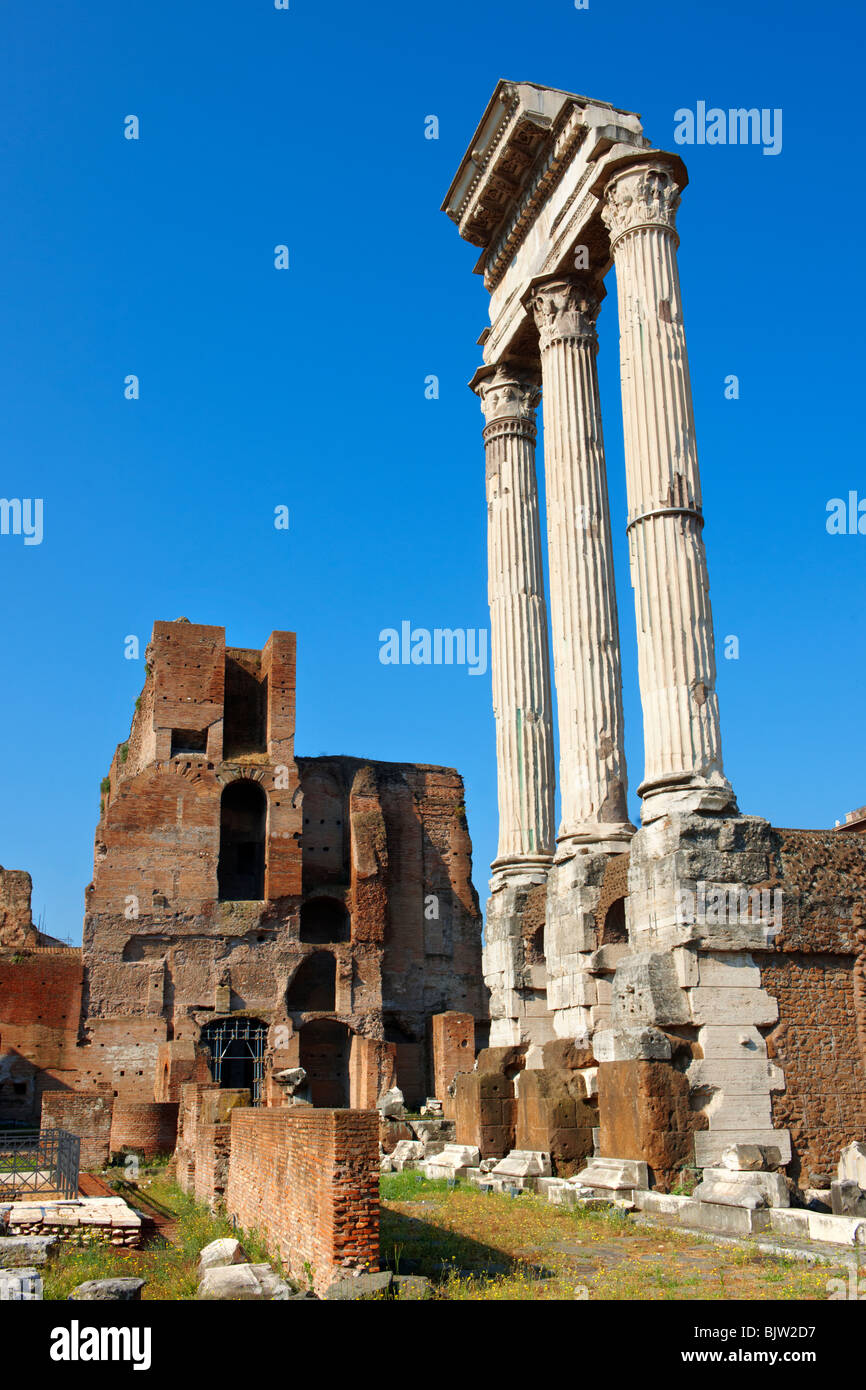 Columns in the Forum Rome - Stock Image