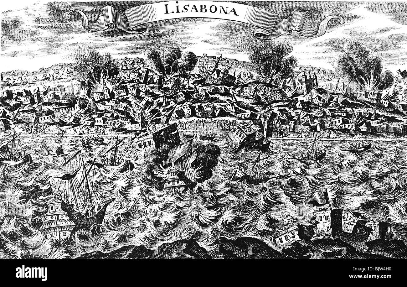 disasters, earthquakes, Lisbon, 1.11.1755, Additional-Rights-Clearances-NA - Stock Image